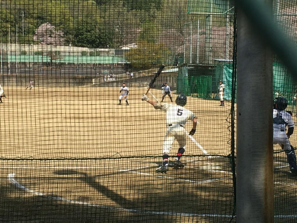 タイムリー2塁打の場面