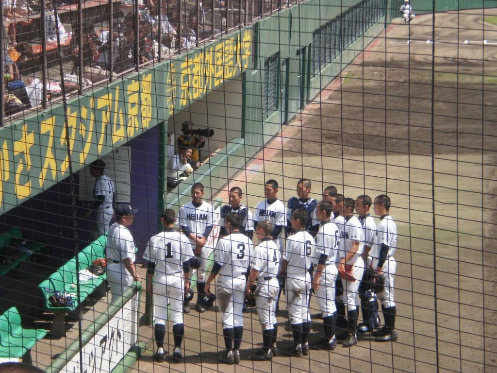 この試合はたびたび原田監督の厳しい叱責が飛びました