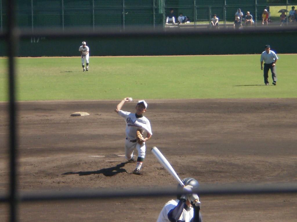 乙訓2番手の坂田投手