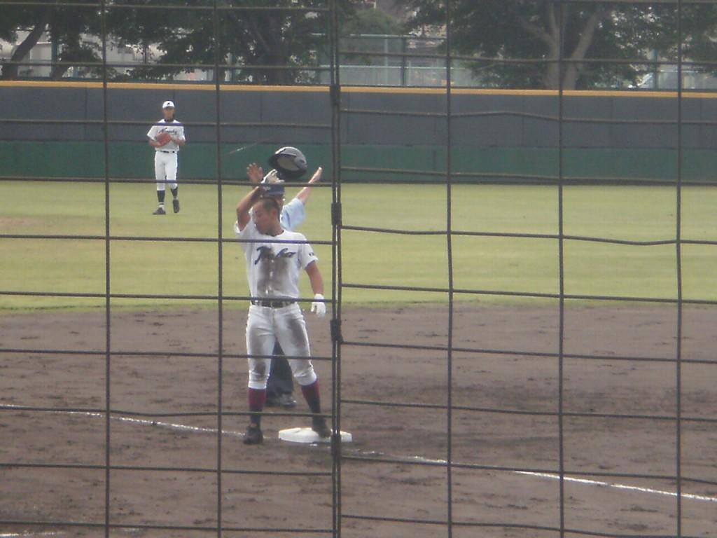 タイムリー3塁打の吉岡選手