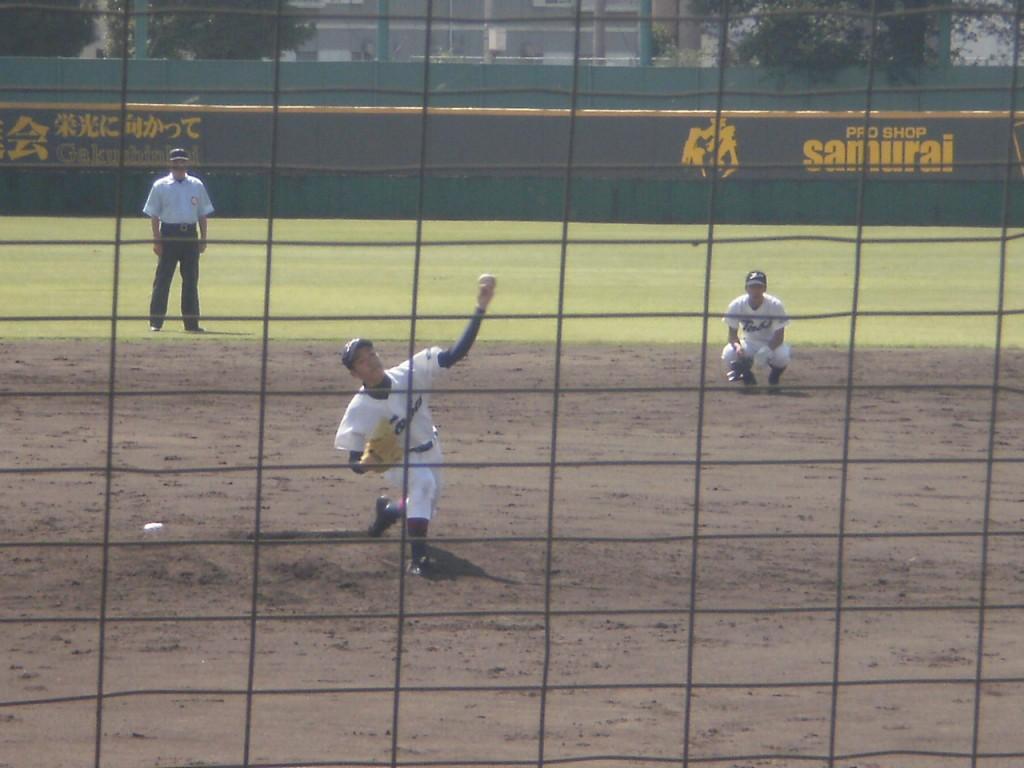 鳥羽3番手の杉沢投手