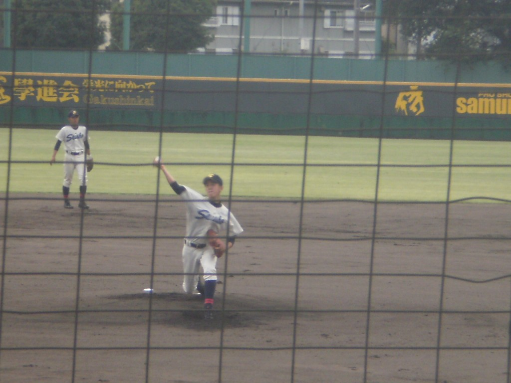 京都成章先発の北山投手