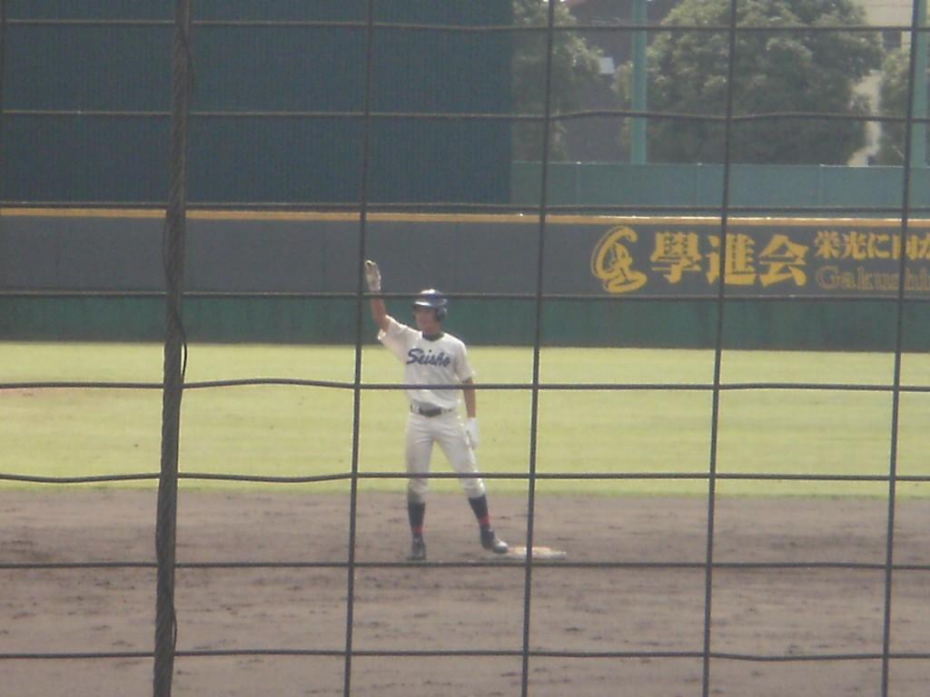 タイムリー2塁打の川岸選手