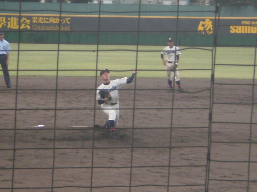 京都成章2番手の佐藤投手