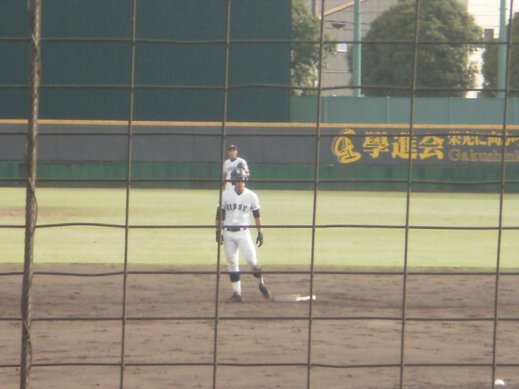 タイムリー2塁打の上野宙選手