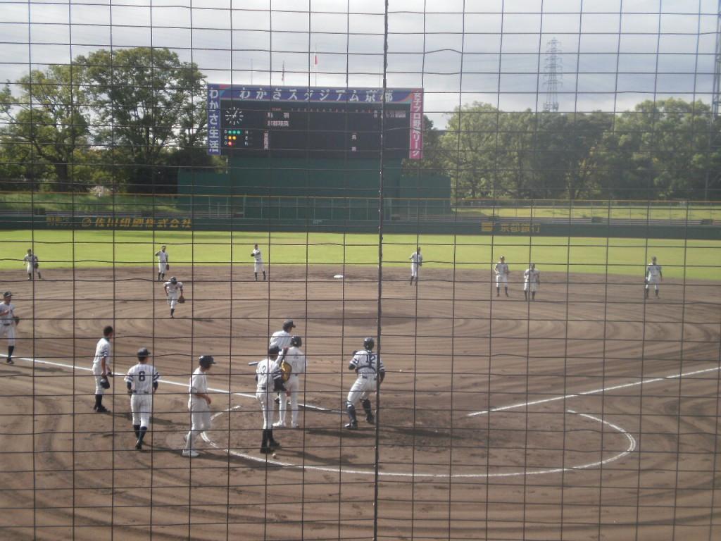 京都翔英の試合前ノック