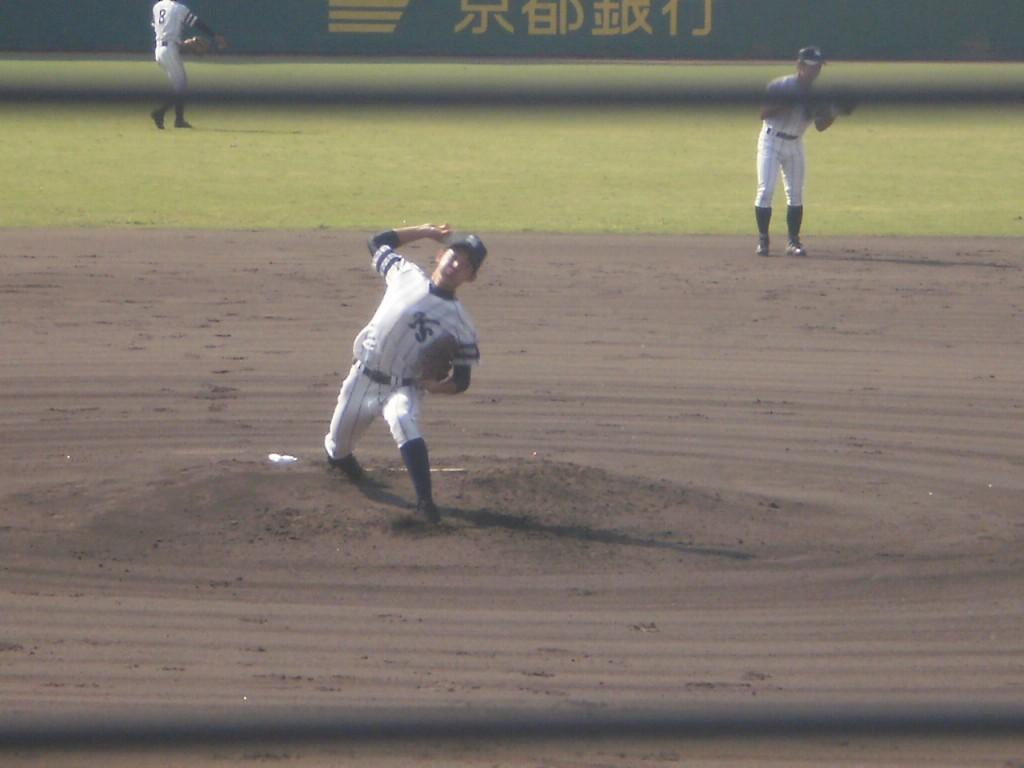 京都翔英先発の阿部投手