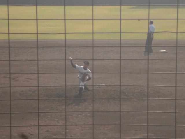 明石商業2番手の三浦投手