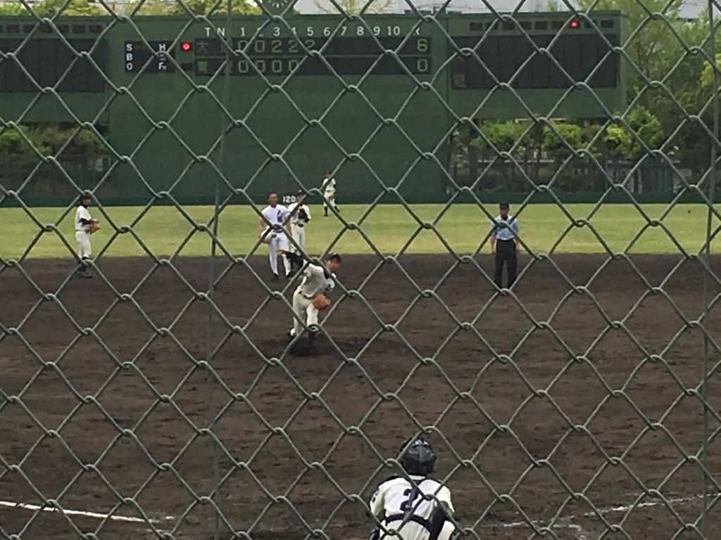 大阪青凌、2番手の背番号10の右腕