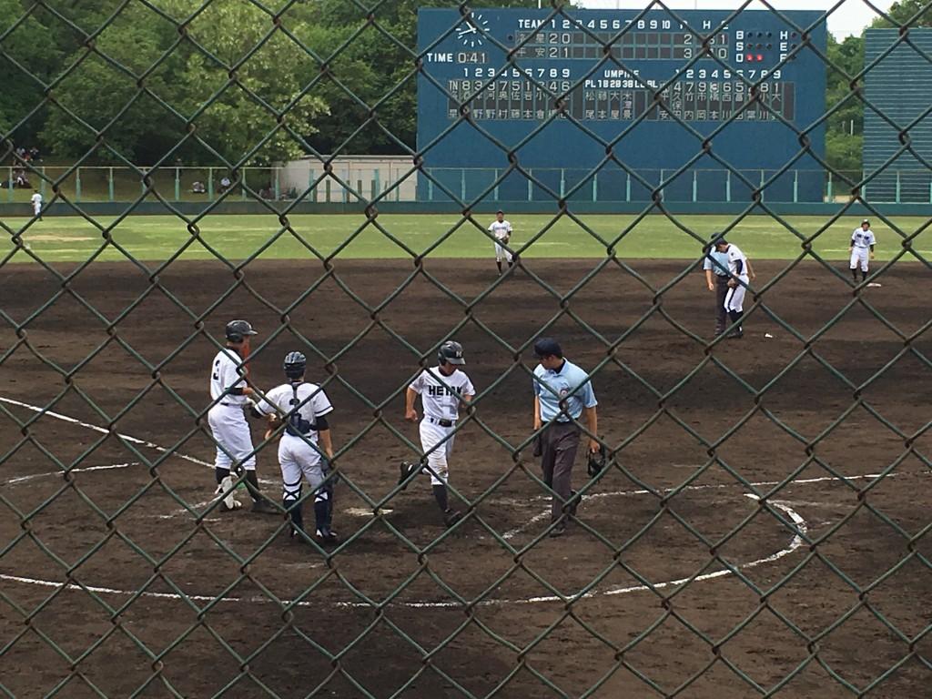 久保田選手が還り平安4-2とリード