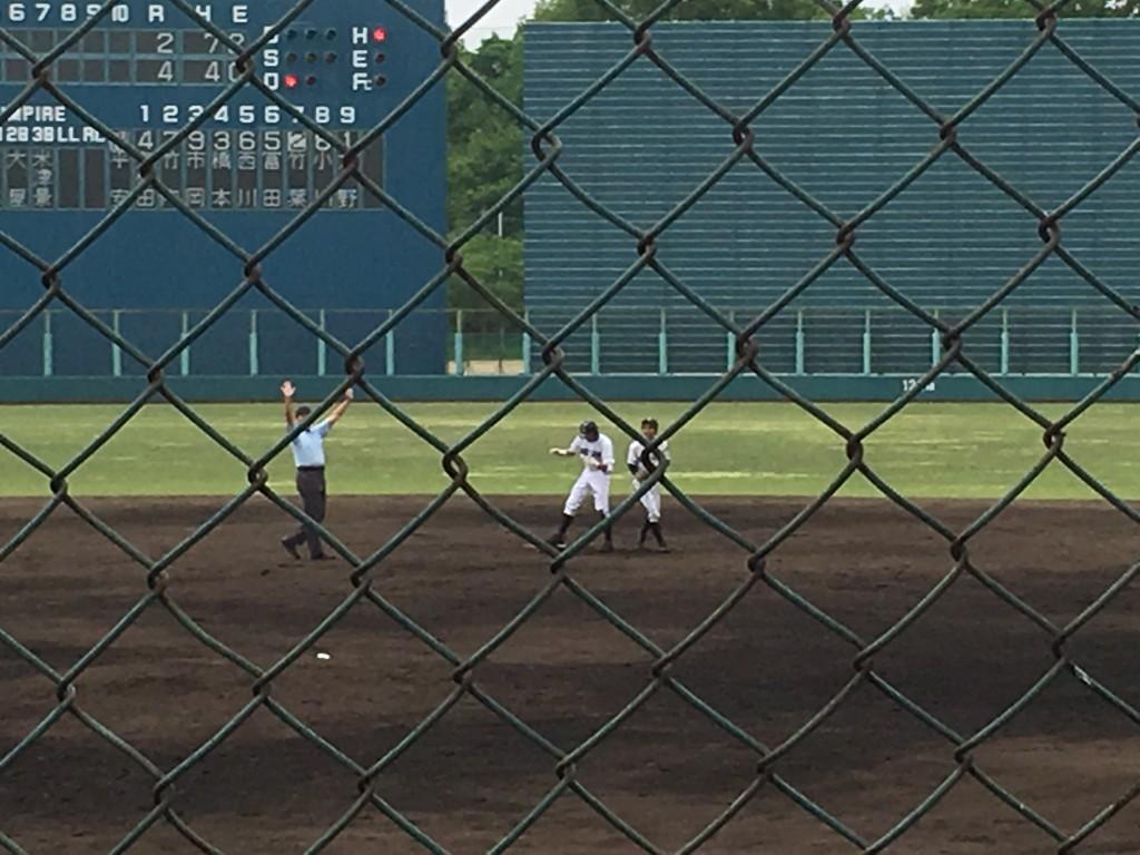 竹葉選手が5点目のタイムリーヒット