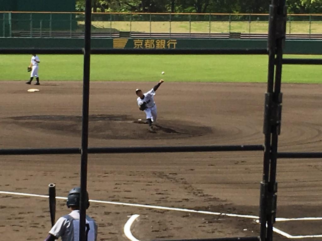 平安先発の西田投手