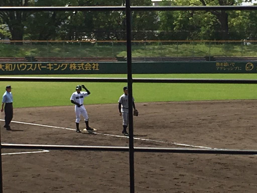 三塁打の西田選手