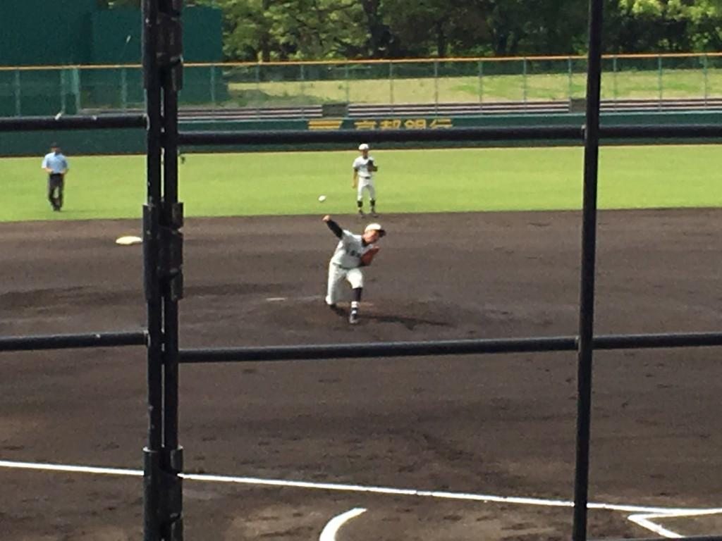 搭南先発の宮崎投手
