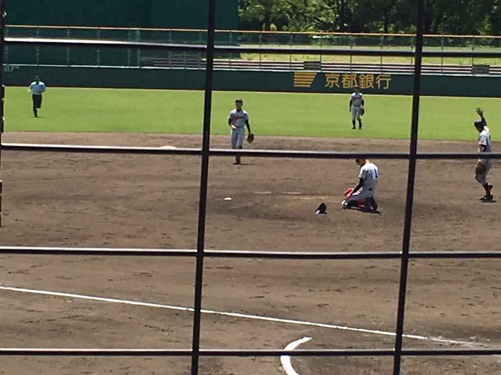 ホームラン直後の柳田投手