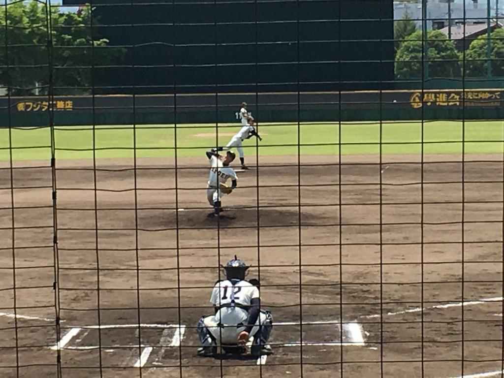 共栄先発の篠田投手