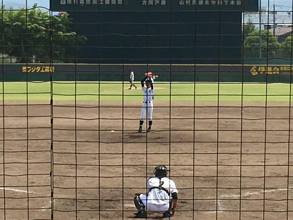 福知山3番手の岡坂投手