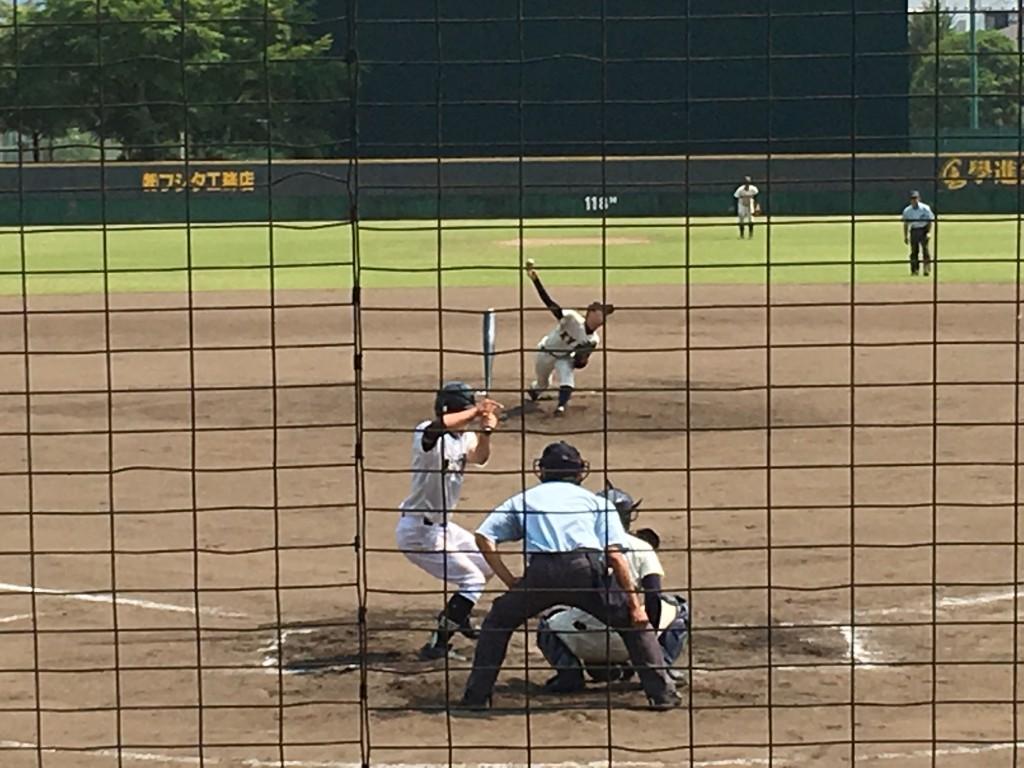 京都共栄3番手の高槻投手