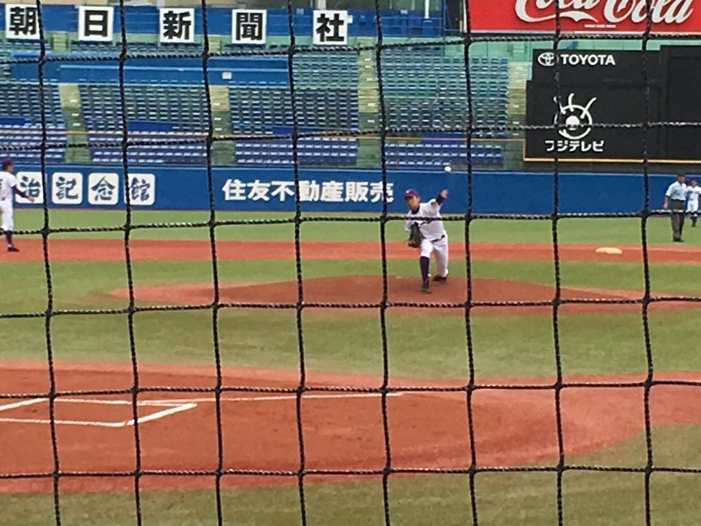 関東一、先発の佐藤奨投手