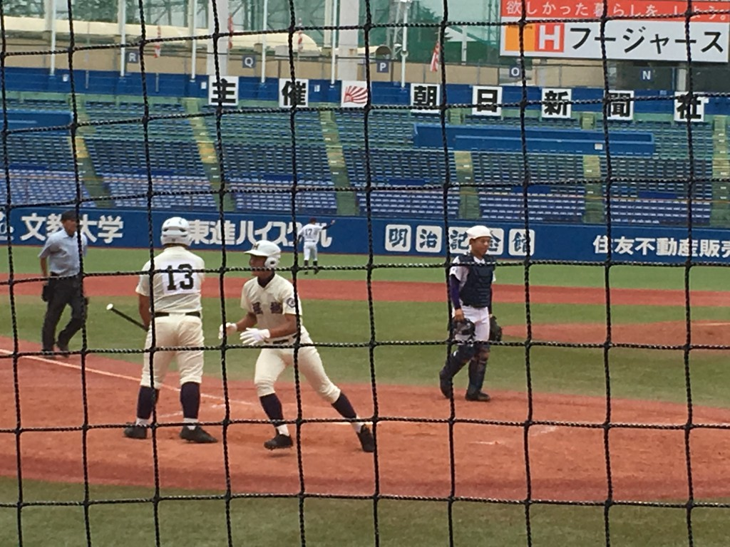 同点本塁打の秋田選手