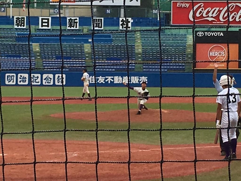 堀越4番手の川島投手