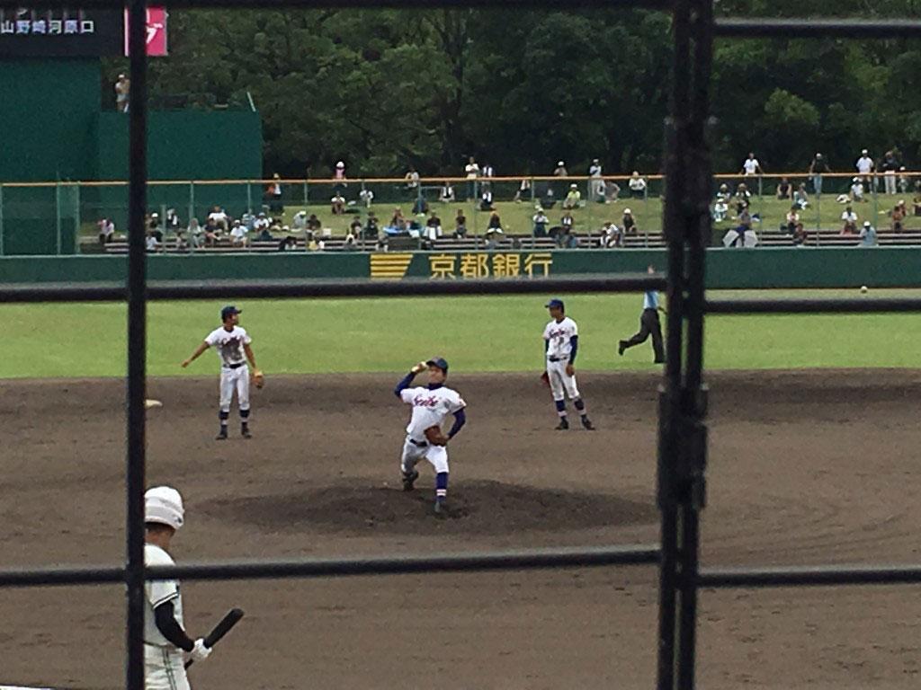 福知山成美、エース右腕の川上投手