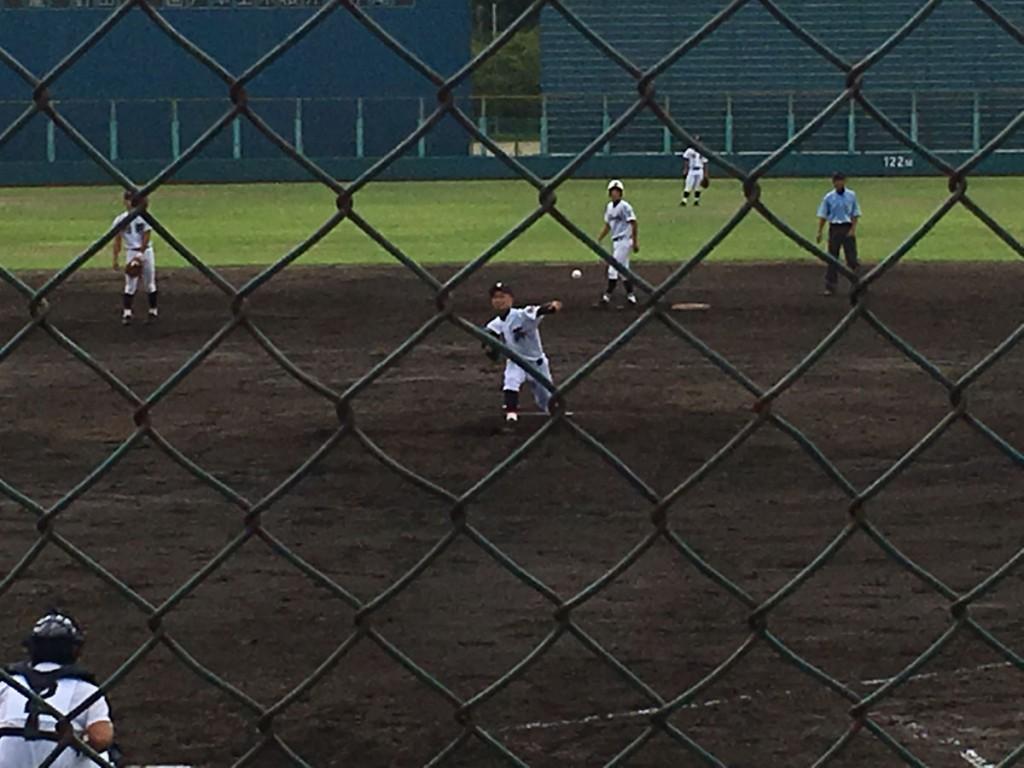 京都翔英、2番手の坂田投手