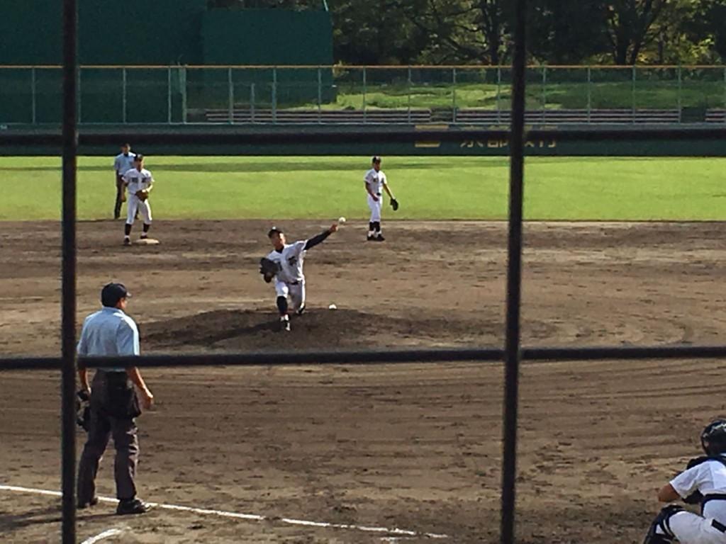 翔英2番手の坂田投手
