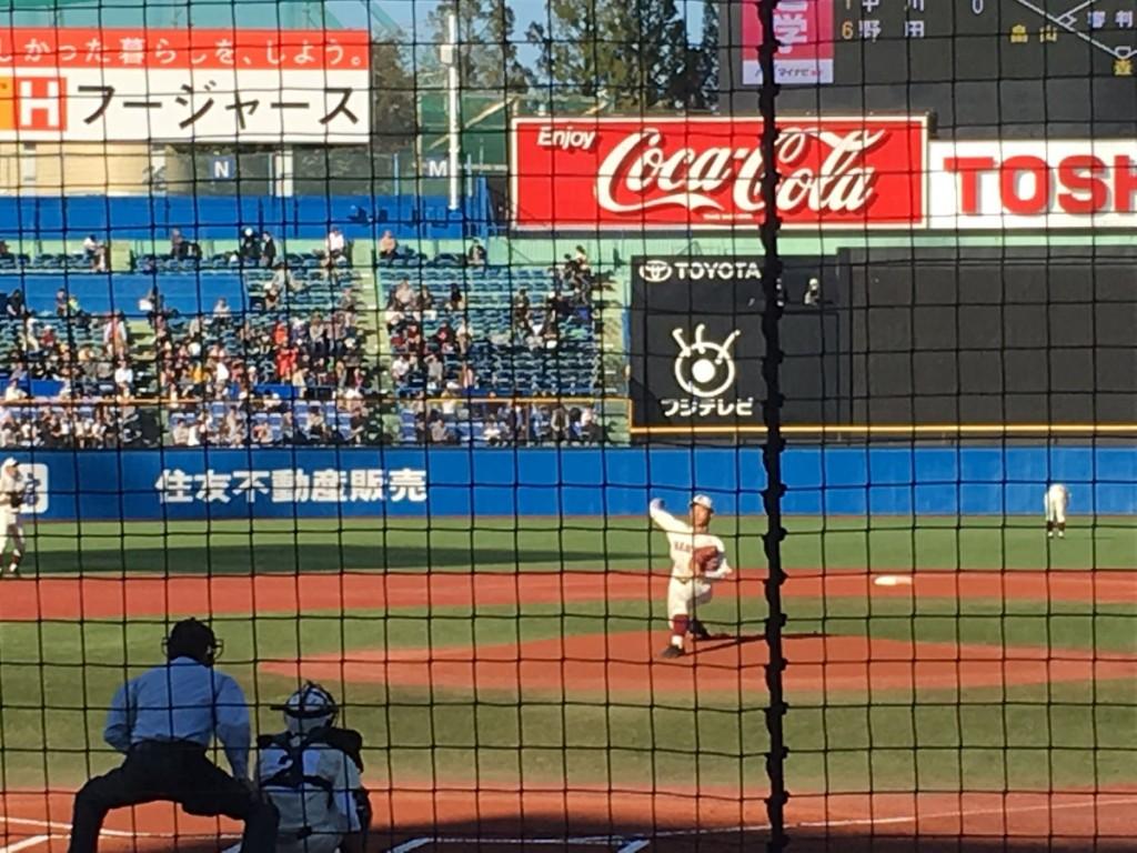 早稲田実業先発の中川選手