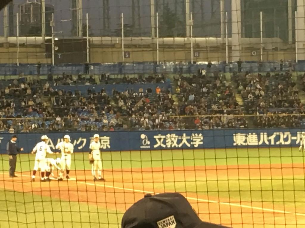3塁打の西田選手